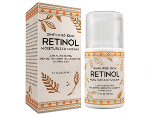 Simplified retinol anti-aging moisturizing face cream