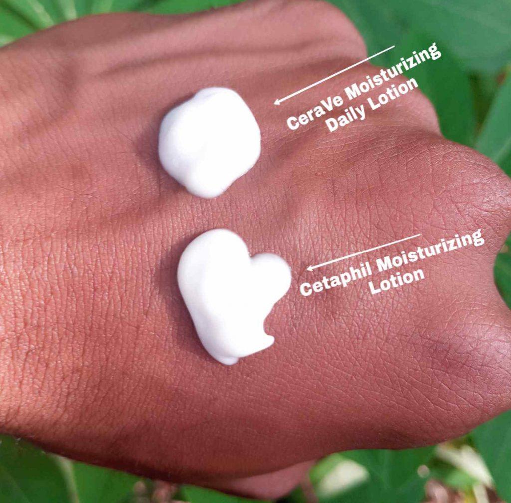 CeraVe vs Cetaphil moisturizing lotion